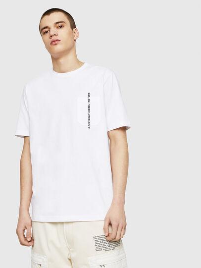 Diesel - T-JUST-POCKET-COPY, Blanc - T-Shirts - Image 1
