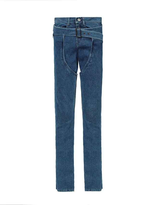 Diesel - SOCSJ01, Bleu Foncé - Pantalons - Image 1
