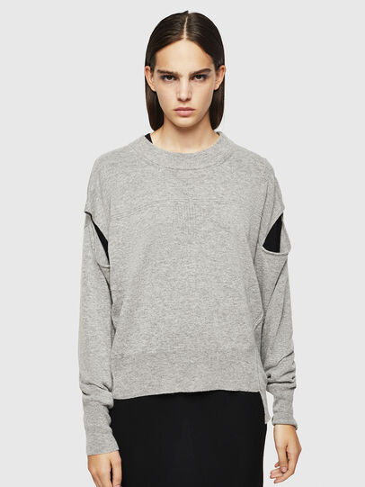 Diesel - M-CRISTAL, Gris - Pull Maille - Image 1