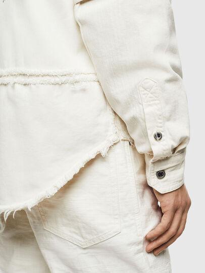 Diesel - D-KURTIS, Blanc - Chemises en Denim - Image 4