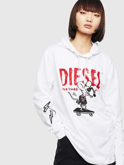 Diesel - CL-T-JUST-LS-HOOD, Blanc - T-Shirts - Image 2