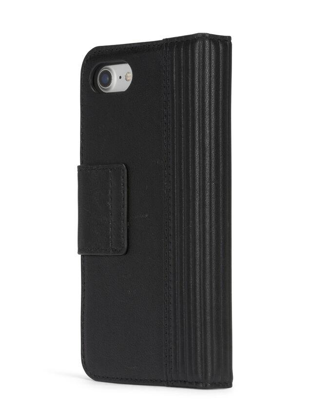 Diesel - BLACK LINED LEATHER IPHONE 8 PLUS/7 PLUS FOLIO, Noir - Coques à rabat - Image 6