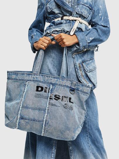 Diesel - D-THISBAG SHOPPER L, Bleu Clair - Cabas et Sacs d'Épaule - Image 7