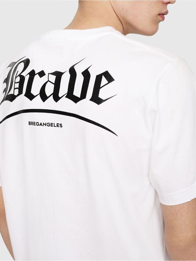 Diesel - T-JUST-Y14, Blanc/Noir - T-Shirts - Image 4