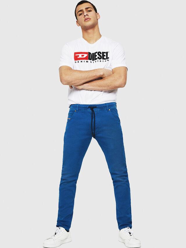 Diesel - Krooley JoggJeans 0670M, Bleu Brillant - Jeans - Image 4
