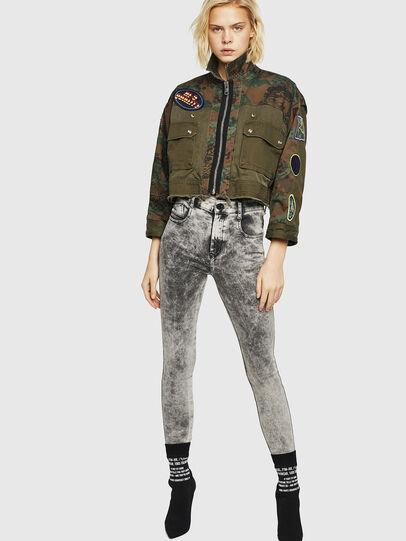Diesel - Slandy High 069GQ, Gris Clair - Jeans - Image 5