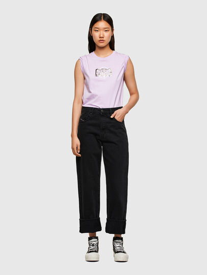 Diesel - T-SILY-R5, Lilas - T-Shirts - Image 4
