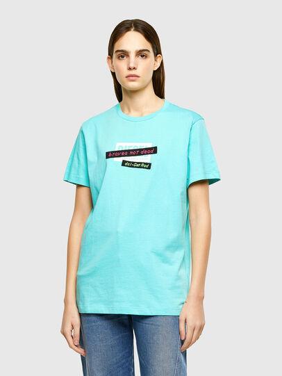 Diesel - T-DARIA-R2, Azur - T-Shirts - Image 1