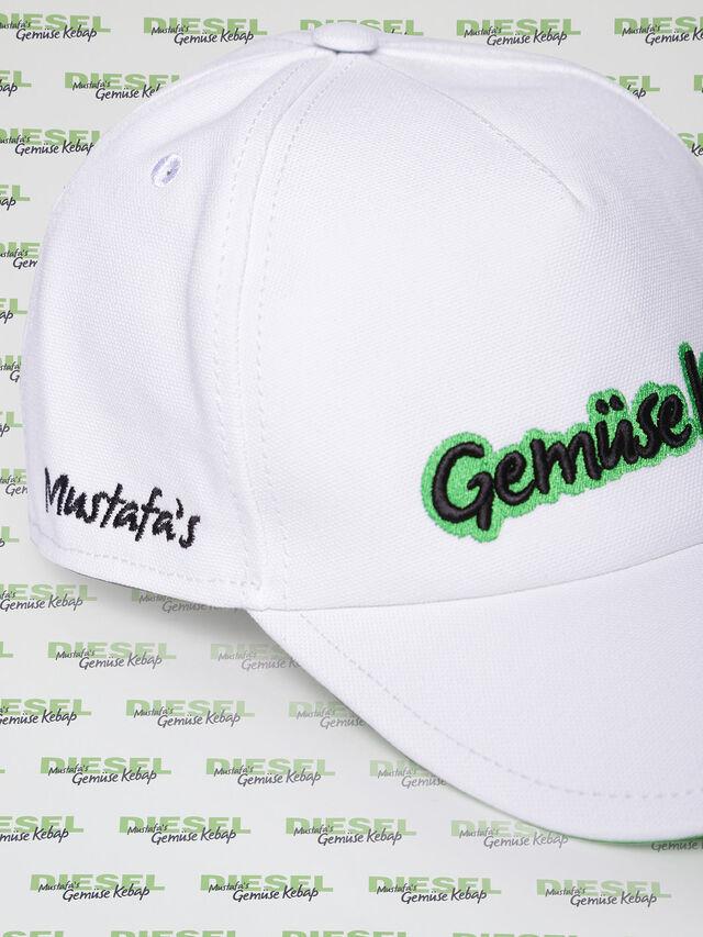 Diesel - MU-CELEB, Blanc - Bérets, chapeaux et gants - Image 3