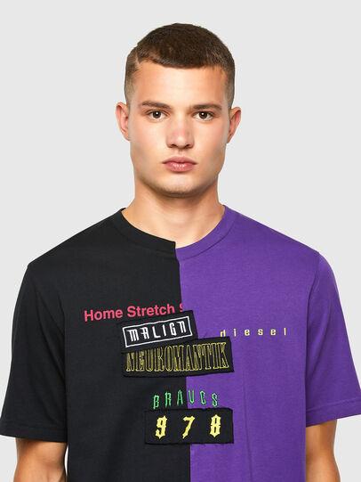 Diesel - T-JUBBLE-N1, Noir/Bleu - T-Shirts - Image 4