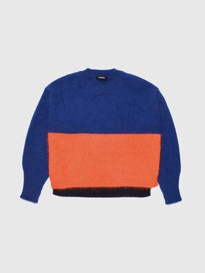 KAIRY, Bleu/Orange - Pull Maille