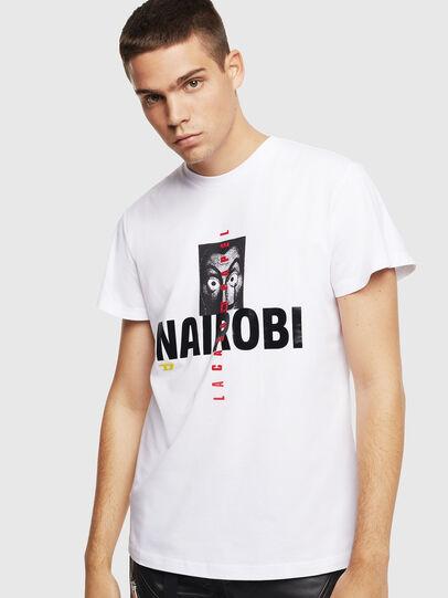 Diesel - LCP-T-DIEGO-NAIROBI, Blanc - T-Shirts - Image 1