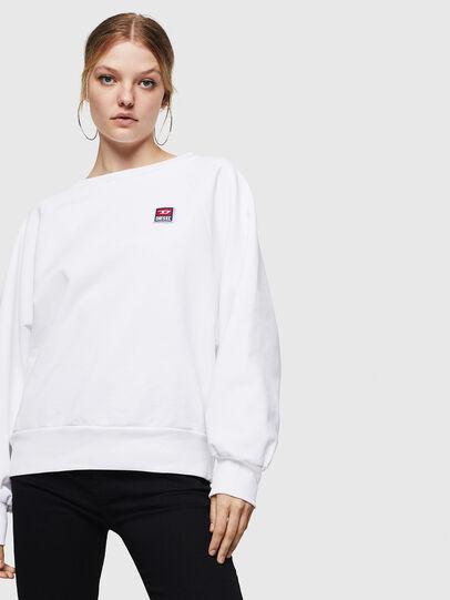 Diesel - F-HENNY-E, Blanc - Pull Cotton - Image 4