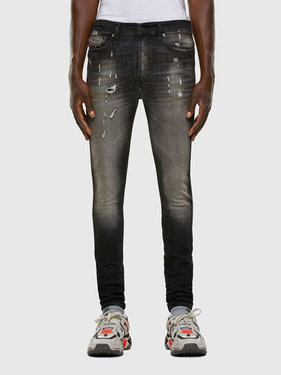 Diesel - D-Reeft JoggJeans 009FX, Noir/Gris foncé - Jeans - Image 1