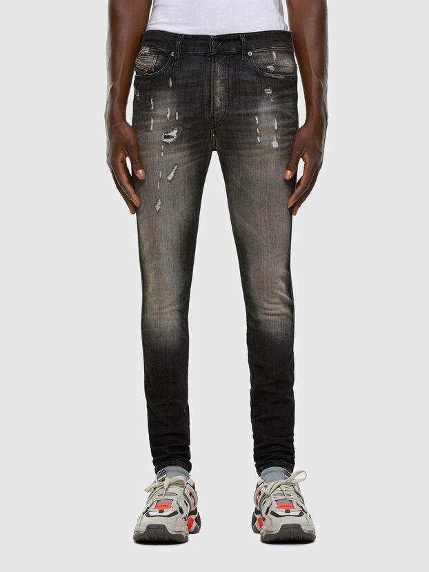 D-Reeft JoggJeans 009FX, Noir/Gris foncé - Jeans