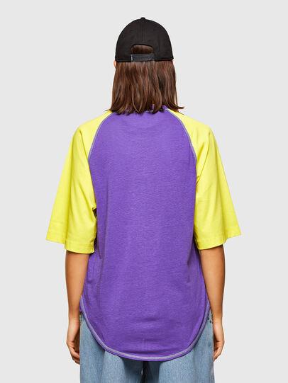 Diesel - T-SPO, Violet/Jaune - T-Shirts - Image 2