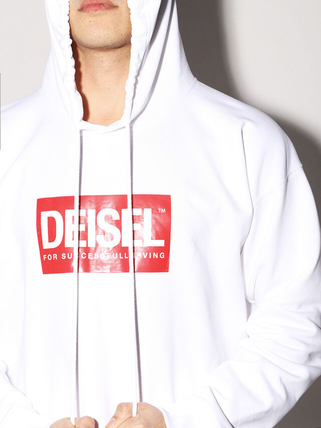 Diesel - DEIS-SHOOD, Blanc - Pull Cotton - Image 6