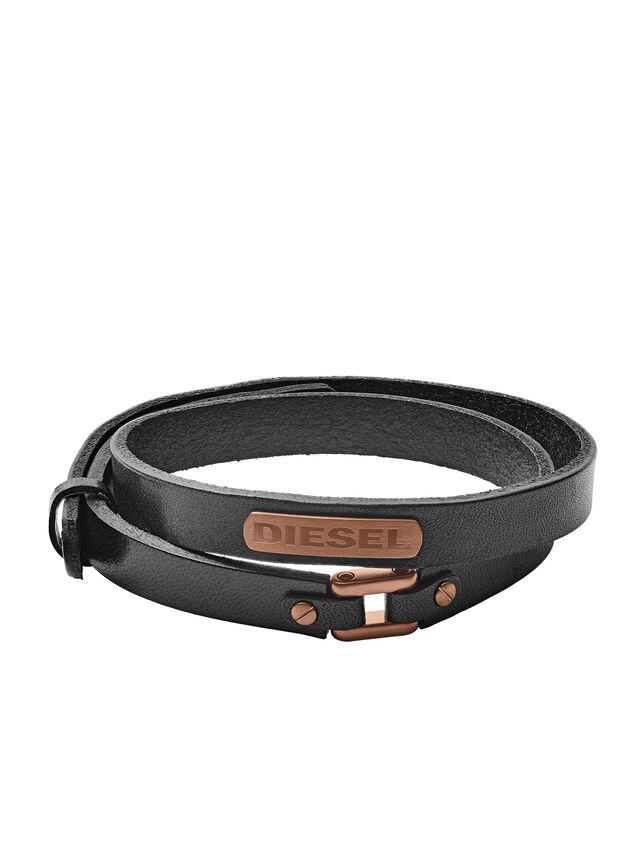 Diesel - BRACELET DX1093, Noir - Bracelets - Image 1