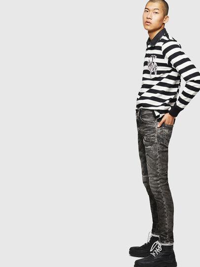 Diesel - Thommer JoggJeans 0890B, Noir/Gris foncé - Jeans - Image 4