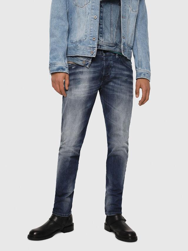 Diesel - D-Bazer 084DD, Bleu Foncé - Jeans - Image 1