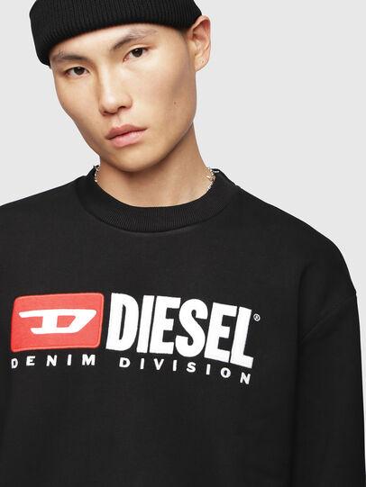 Diesel - S-CREW-DIVISION, Noir - Pull Cotton - Image 3