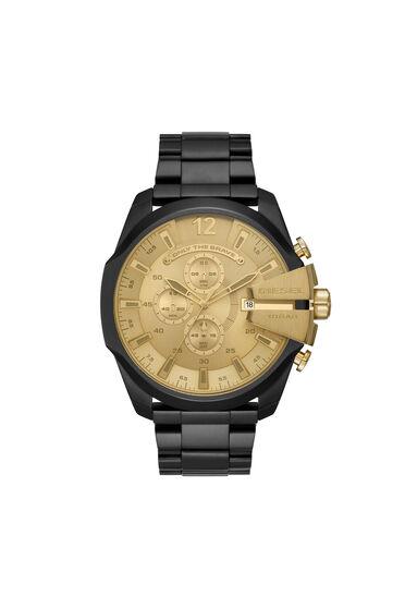 Mega Chief montre chronographe en acier inoxydable noir