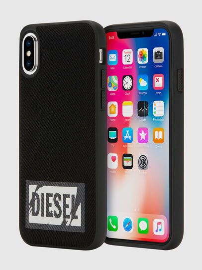 Diesel - BLACK DENIM IPHONE X CASE,  - Coques - Image 1