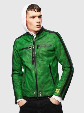 L-BOY-A, Vert - Vestes de cuir