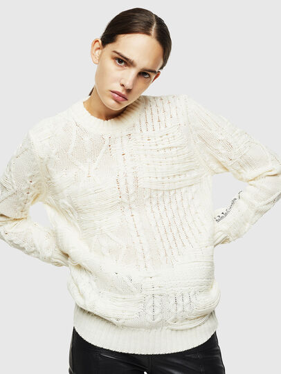Diesel - K-BRIGLY, Blanc - Pull Maille - Image 2