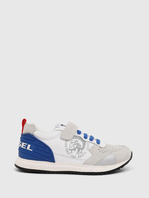 SN RUNNER 01 LC CH, Blanc/Bleu - Footwear