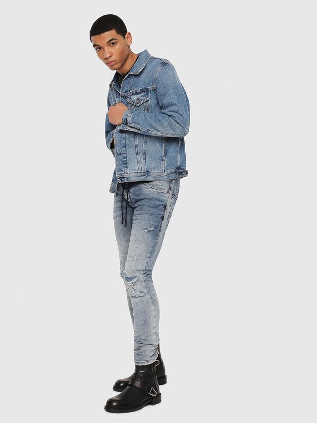 Diesel - Thommer JoggJeans 069FC, Bleu moyen - Jeans - Image 5
