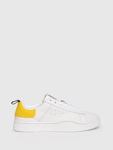 Sneakers en cuir avec languette à logo de marque