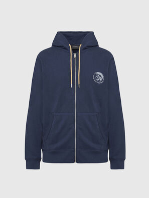 UMLT-BRANDON-Z, Bleu Marine - Pull Cotton