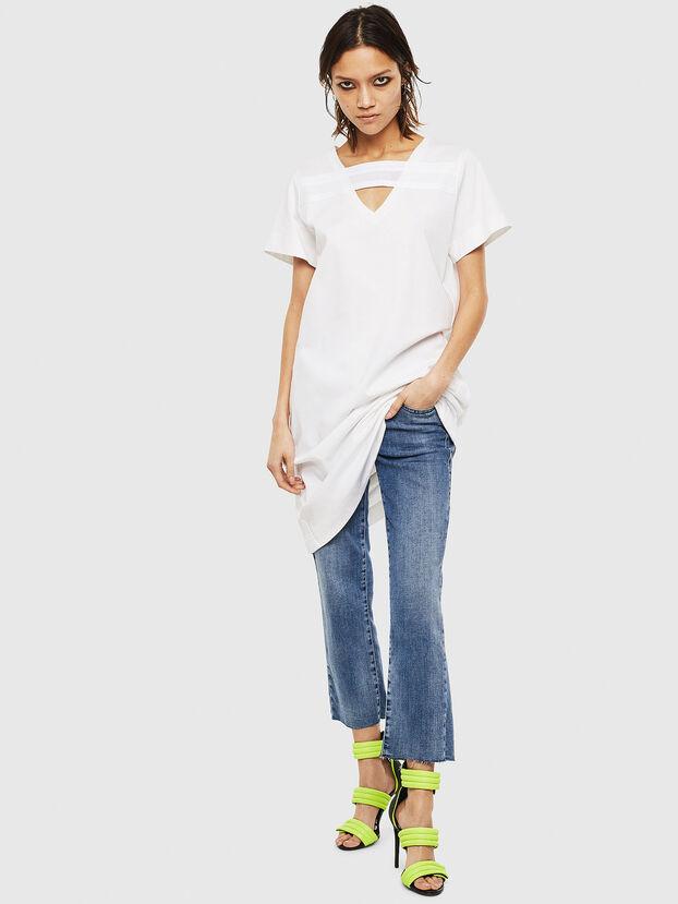 D-STRIPE, Blanc - Robes