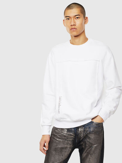 Diesel - S-BAY-RAW, Blanc - Pull Cotton - Image 1