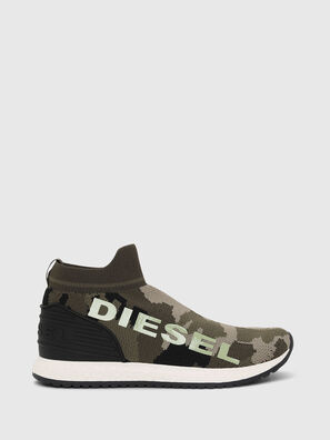 SLIP ON 03 LOW SOCK, Vert Camouflage - Footwear
