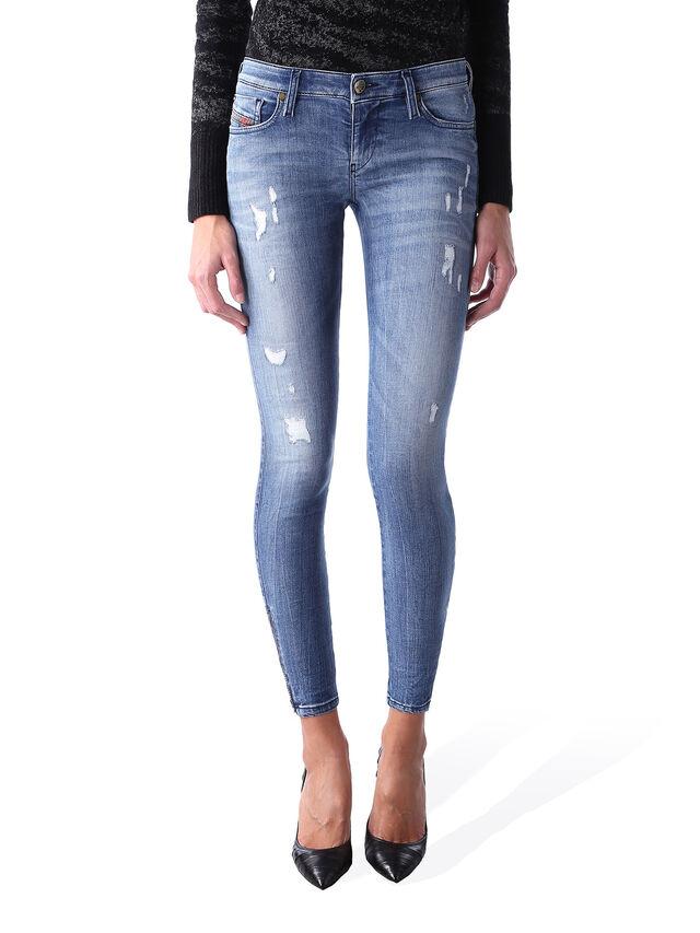 Diesel - Skinzee Low Zip 0847U, Bleu moyen - Jeans - Image 1