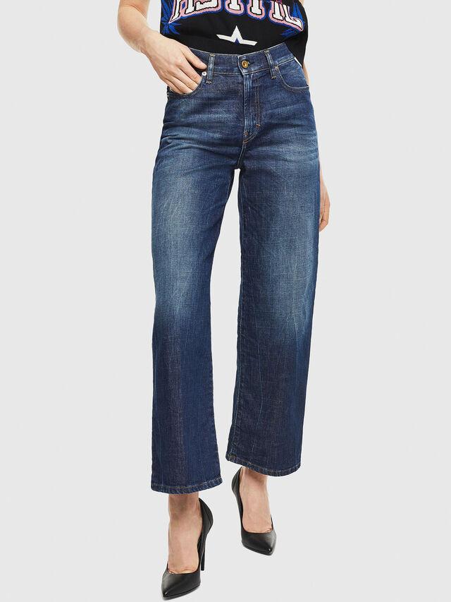 Diesel - Widee 0090W, Bleu Foncé - Jeans - Image 1