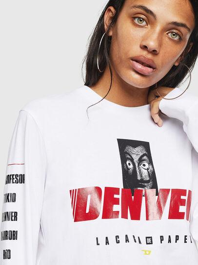 Diesel - LCP-T-JUST-LS-DENVER, Blanc - T-Shirts - Image 5
