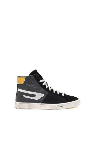 Sneakers montantes avec logo D métallisé