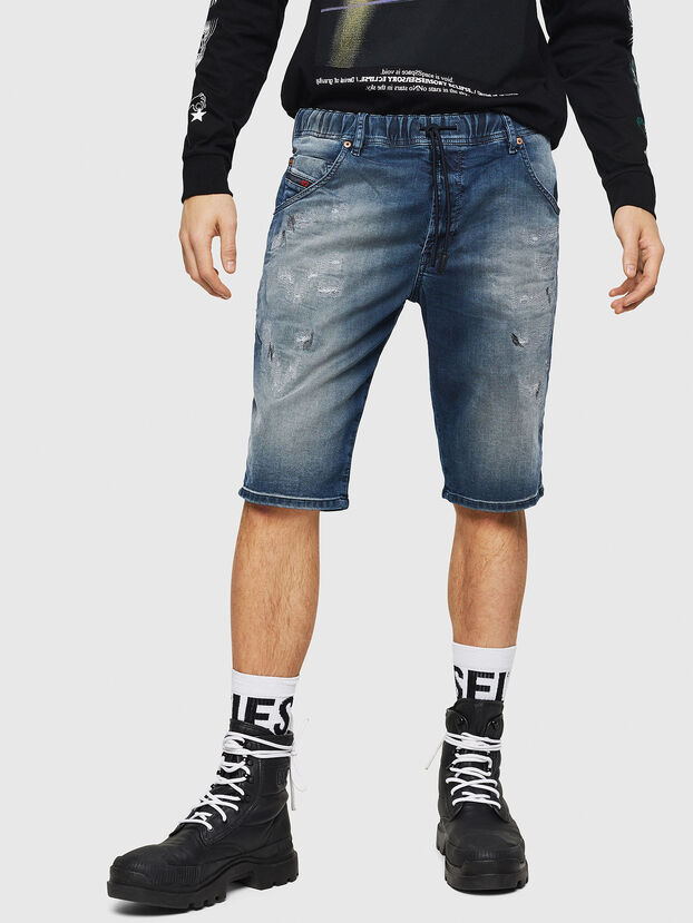 D-KROOSHORT JOGGJEANS, Bleu moyen - Shorts
