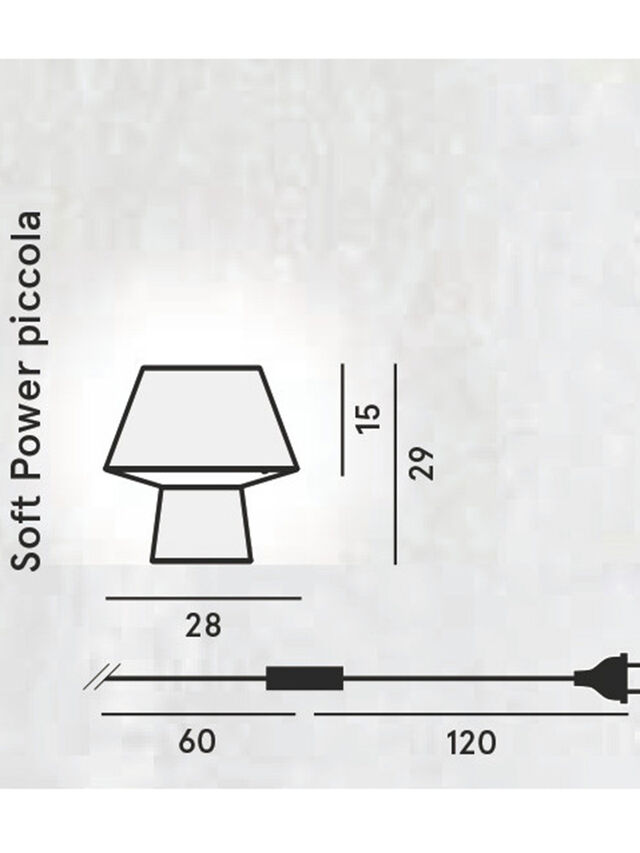 Diesel - SOFT POWER PICCOLA, Noir - Éclairages De Table - Image 2