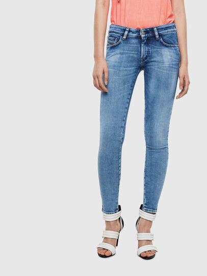 Diesel - Slandy Low 0095P, Bleu Clair - Jeans - Image 1