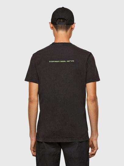 Diesel - T-DIEBIND-SLITS-A2, Noir - T-Shirts - Image 2