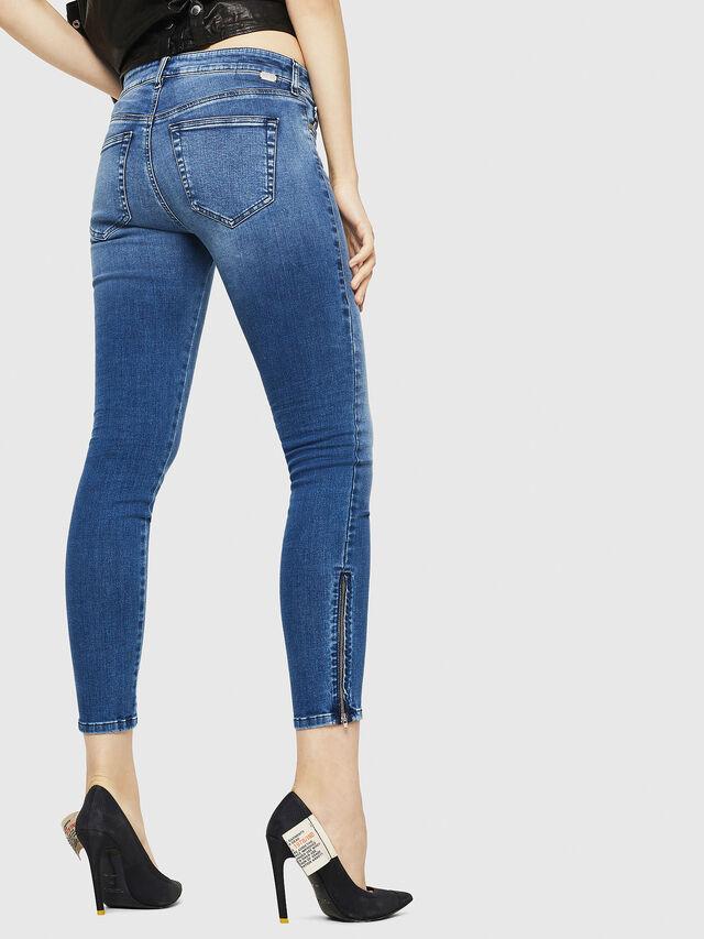 Diesel - Slandy Zip 084NM, Bleu moyen - Jeans - Image 2