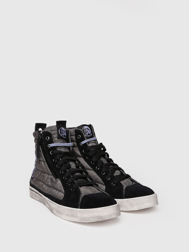 Diesel - D-VELOWS MID PATCH, Gris/Noir - Baskets - Image 3