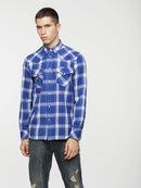 S-EAST-LONG-C, Bleu/Blanc - Chemises