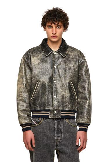 DieselXDiesel veste style universitaire en cuir