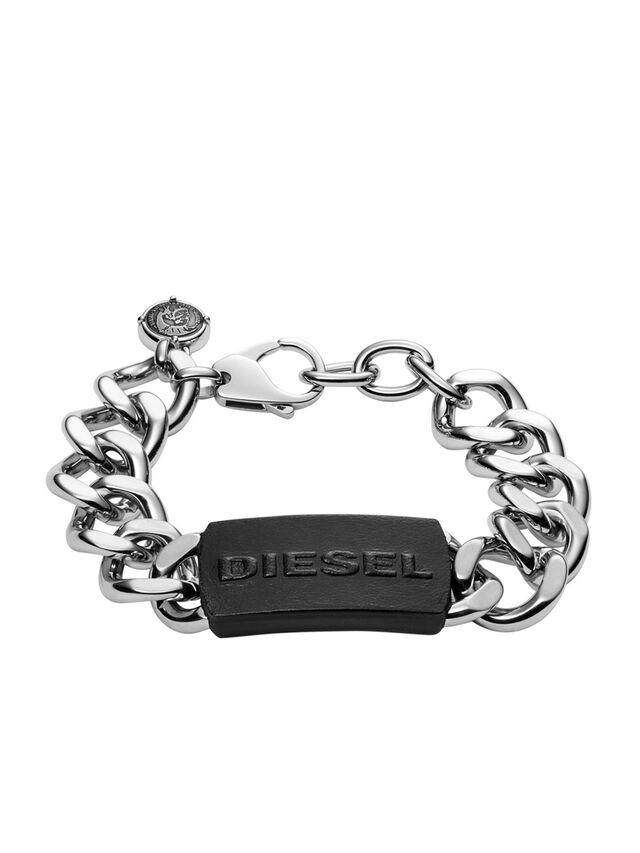 Diesel - BRACELET DX1010, Gris argenté - Bracelets - Image 1