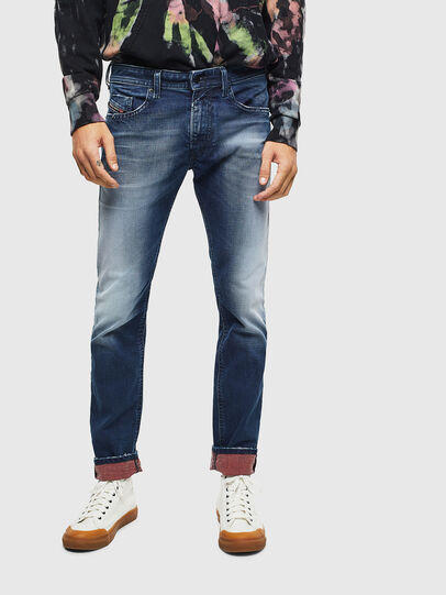 Diesel - Thommer 009BQ, Bleu Foncé - Jeans - Image 1